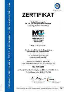 Zertifikat Schweissen